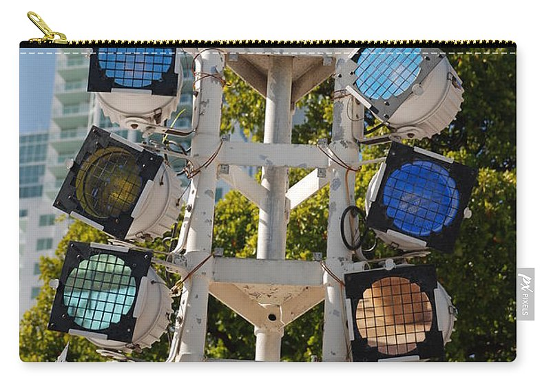 Lights Carry-all Pouch featuring the photograph Lights by Rob Hans