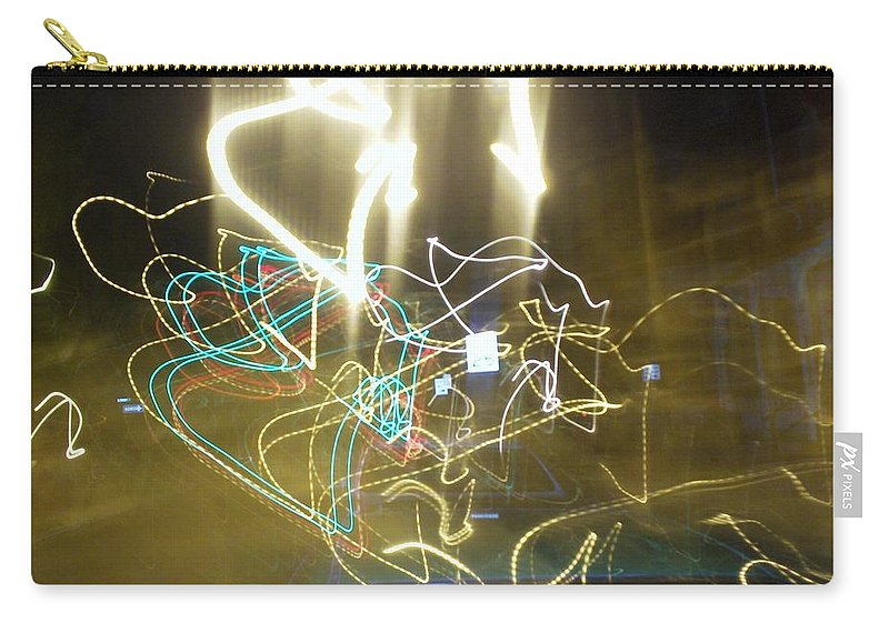 Photograph Carry-all Pouch featuring the photograph Lights That Attack Cars by Thomas Valentine
