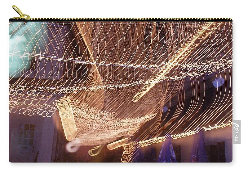 Photograph Carry-all Pouch featuring the photograph Lights That Dance Together by Thomas Valentine
