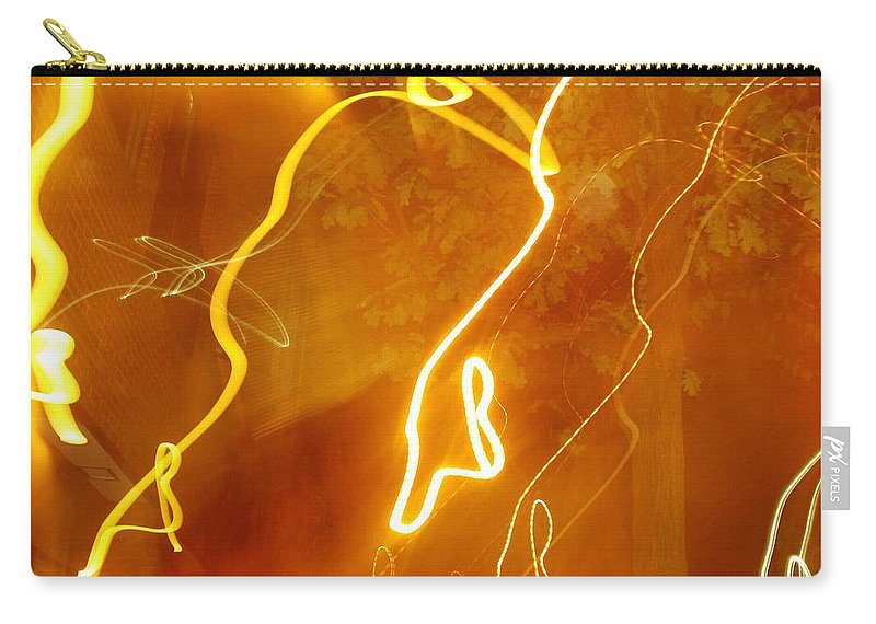 Photograph Carry-all Pouch featuring the photograph Lights That Eat Trees by Thomas Valentine