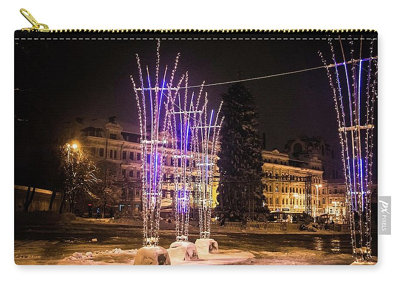 Lights By Valeria New Carry-all Pouch featuring the photograph Lights by Valeria Trot