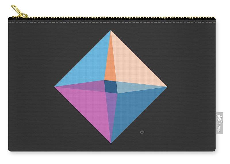 Diamond Carry-all Pouch featuring the digital art Like A Diamond by Ruruflo