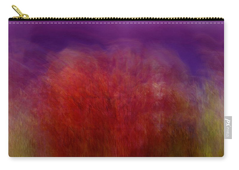 Abstract Art Carry-all Pouch featuring the digital art Like A Dream by Linda Sannuti