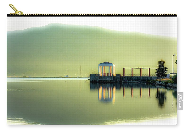 Landscape. Sea. Reflections. Carry-all Pouch featuring the photograph Like A Dream by Yau Ming Low