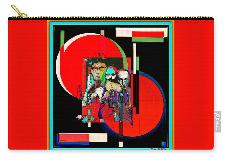 Like Burrow In It's Abstract Burroughs The Word On It's Side Carry-all Pouch featuring the digital art Like Burrow In It's Abstract Burroughs The Word On It's Side by Tony Adamo