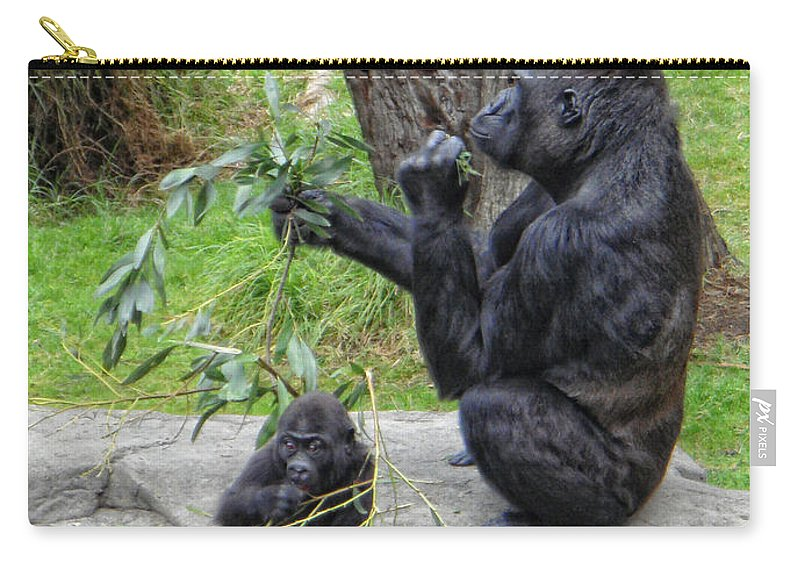 Gorrilla Carry-all Pouch featuring the photograph Like Mother Like Child by Donna Blackhall