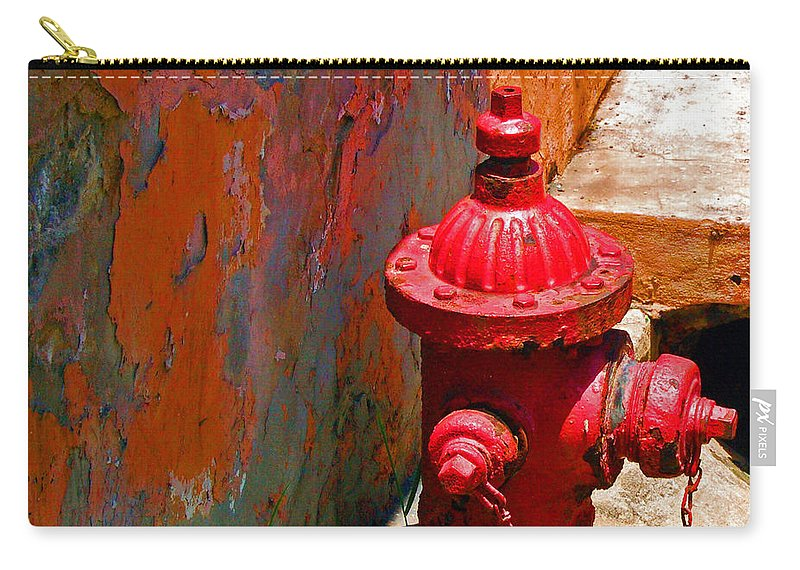Red Carry-all Pouch featuring the photograph Lil Red by Debbi Granruth