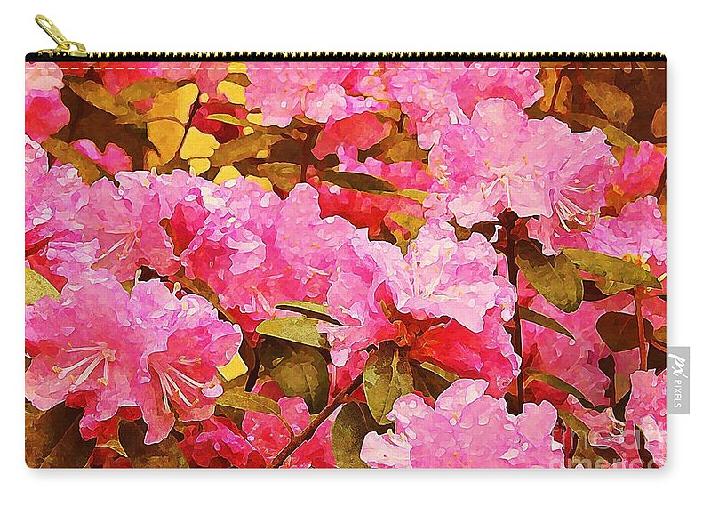 Carry-all Pouch featuring the photograph Lilac Candy by Amy Shumway