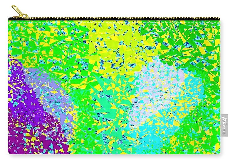 Abstract Carry-all Pouch featuring the digital art Lilac Lane by Will Borden