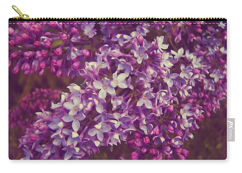 Lilac Carry-all Pouch featuring the photograph Lilacs by JAMART Photography