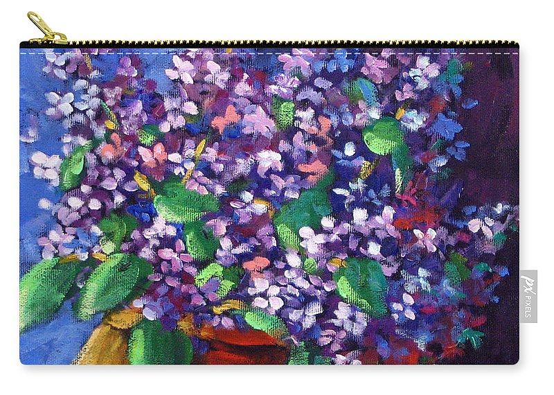 Art Carry-all Pouch featuring the painting Lilacs by Richard T Pranke