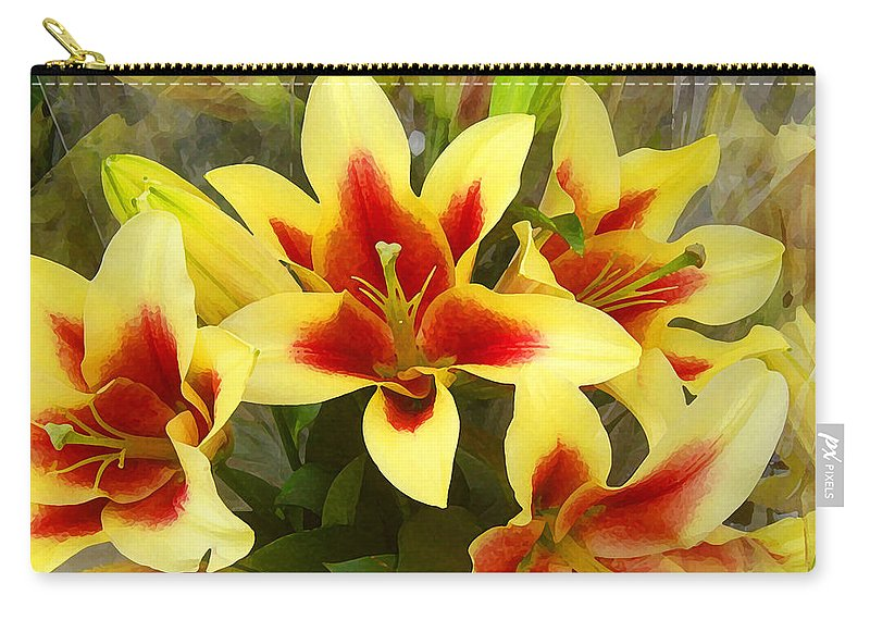 Spring Carry-all Pouch featuring the painting Lilies by Amy Vangsgard
