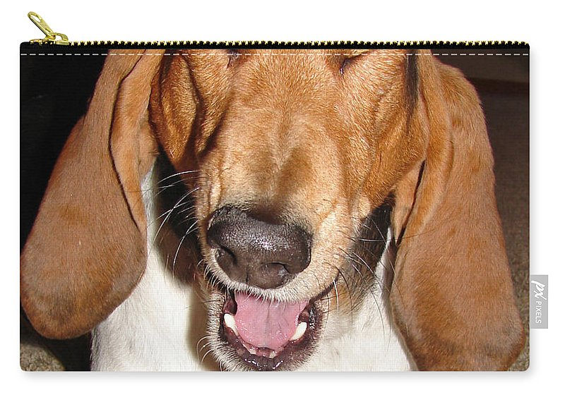 Basset Hound Carry-all Pouch featuring the photograph Lillard by Heather Coen