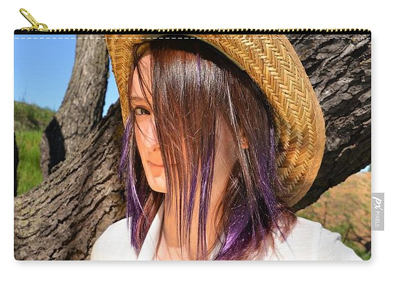 Girl Carry-all Pouch featuring the photograph Lillian by Michael Brown