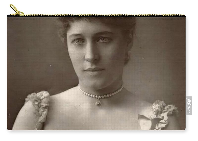 Lillie Langtry 1853 1880 1929 Woman Sexy Erotic Girl Female Nice Dress Vintage Photograph Carry-all Pouch featuring the photograph Lillie Langtry by Steve K