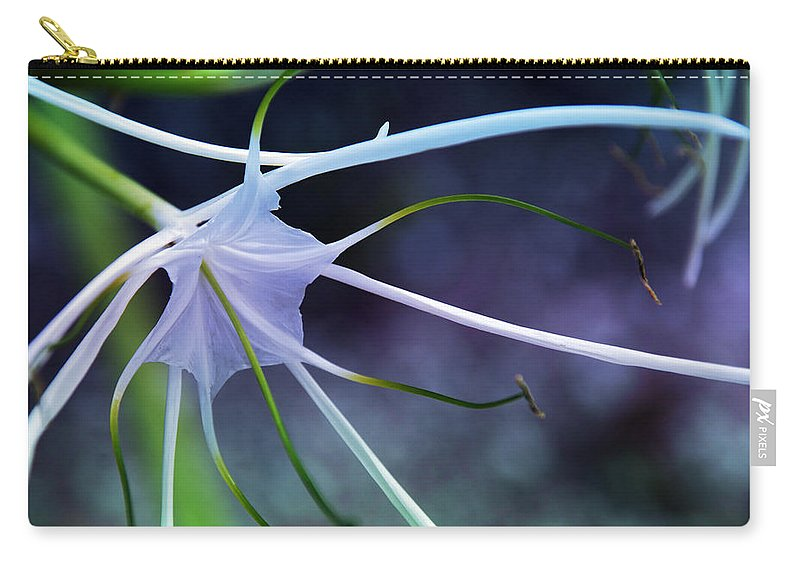Flower Carry-all Pouch featuring the photograph Lilly Flower Purple by Susanne Van Hulst
