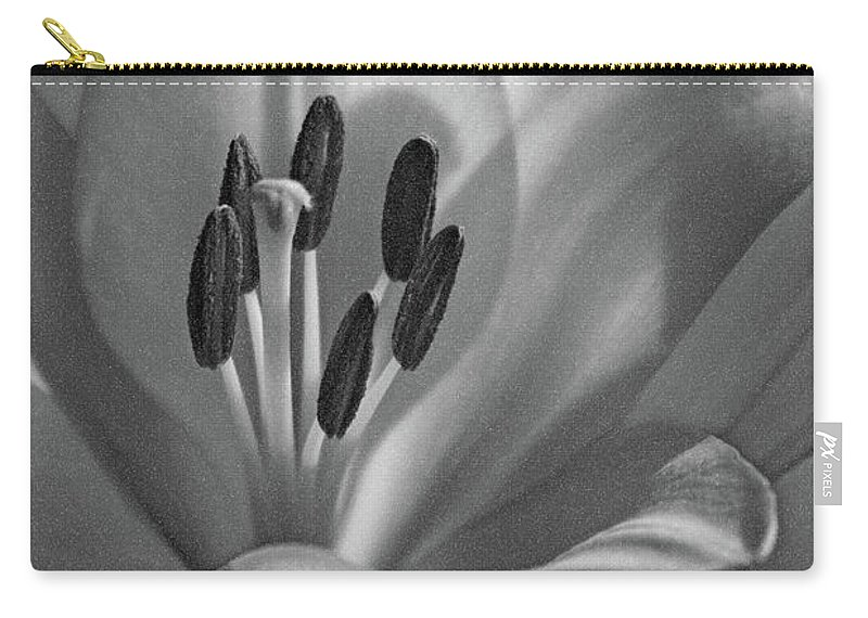 Lily Carry-all Pouch featuring the photograph Lily - American Cheerleader 07 - Bw - Water Paper by Pamela Critchlow