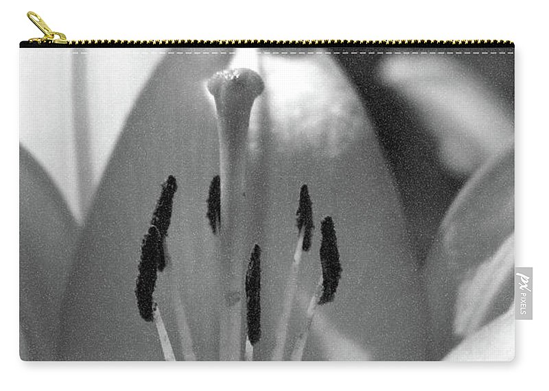 Lily Carry-all Pouch featuring the photograph Lily - American Cheerleader 18 - Bw - Water Paper by Pamela Critchlow