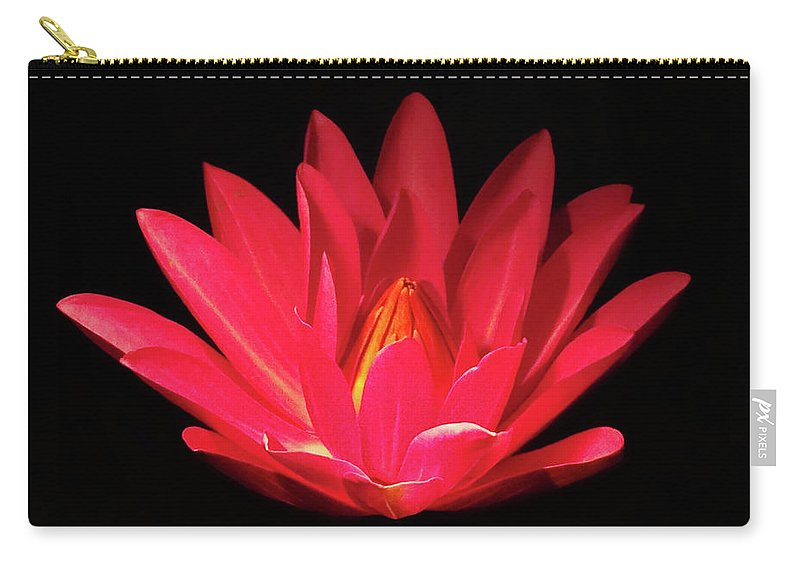 Lily Pads Carry-all Pouch featuring the photograph Lily by Deborah England