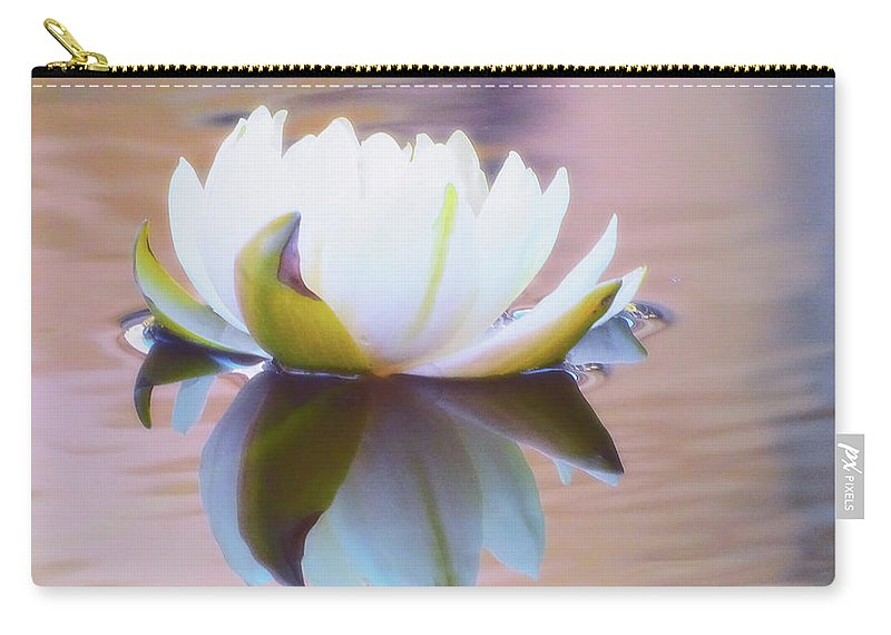 Lily Pads Carry-all Pouch featuring the photograph Lily Dream by Deborah England