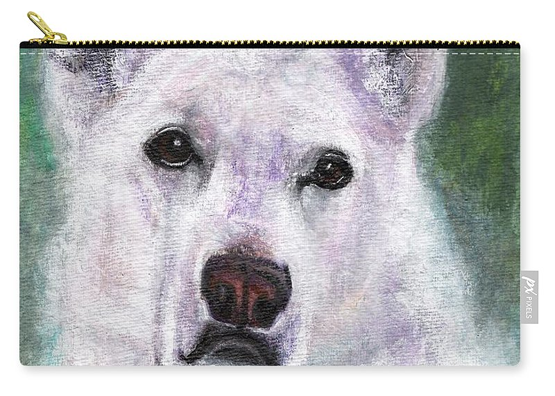 German Shepard Carry-all Pouch featuring the painting Lily by Frances Marino
