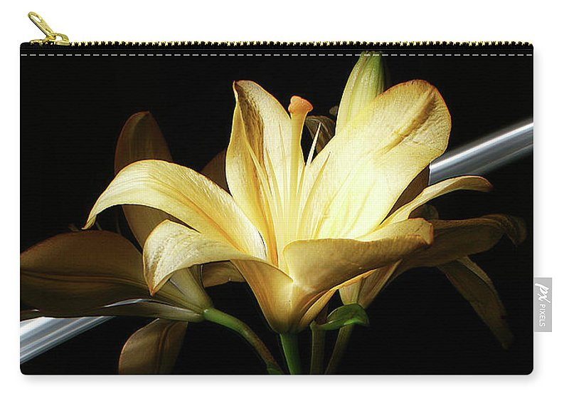 A Beautiful Lily Carry-all Pouch featuring the photograph Lily Of The Field by Bruce Bradley