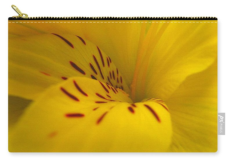 Yellow Carry-all Pouch featuring the photograph Lily by Rhonda Barrett