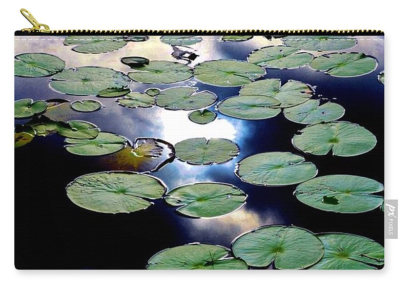 Lily Stairway Carry-all Pouch featuring the photograph Lily Stairway by Lisa Renee Ludlum