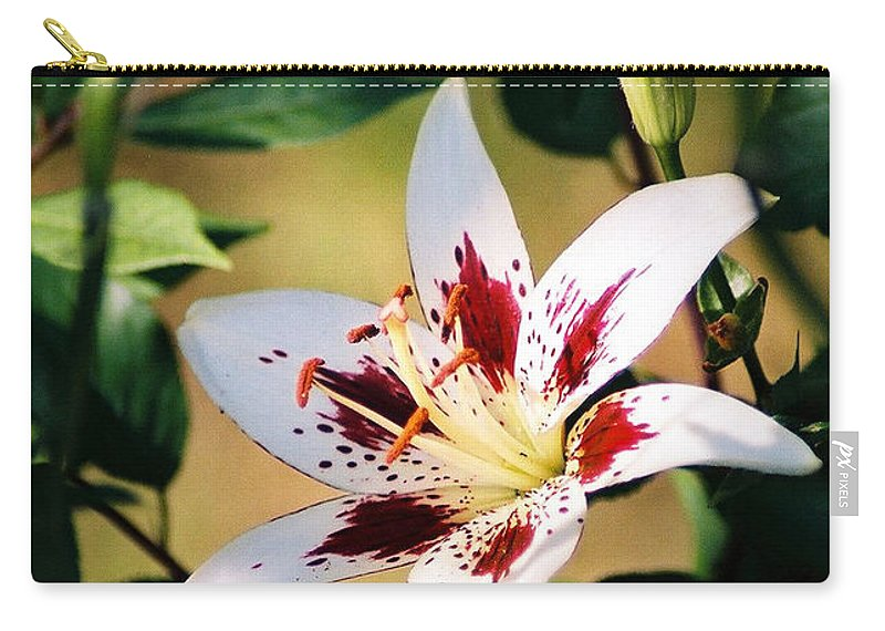 Flower Carry-all Pouch featuring the photograph Lily by Steve Karol