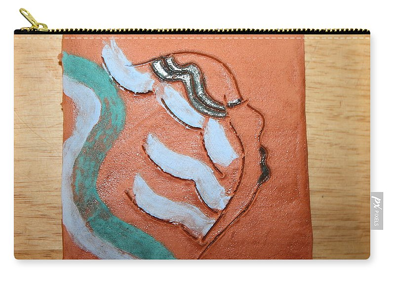 Jesus Carry-all Pouch featuring the ceramic art Lilyanne - Tile by Gloria Ssali