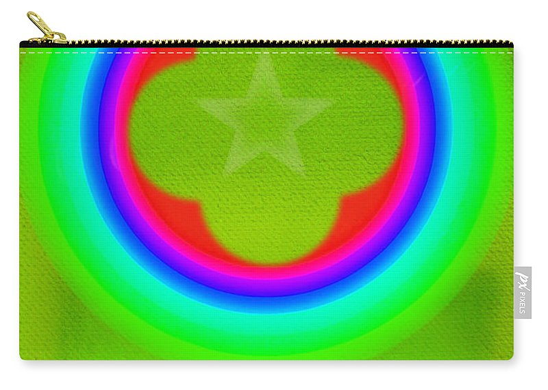 Abstract Carry-all Pouch featuring the painting Lime by Charles Stuart