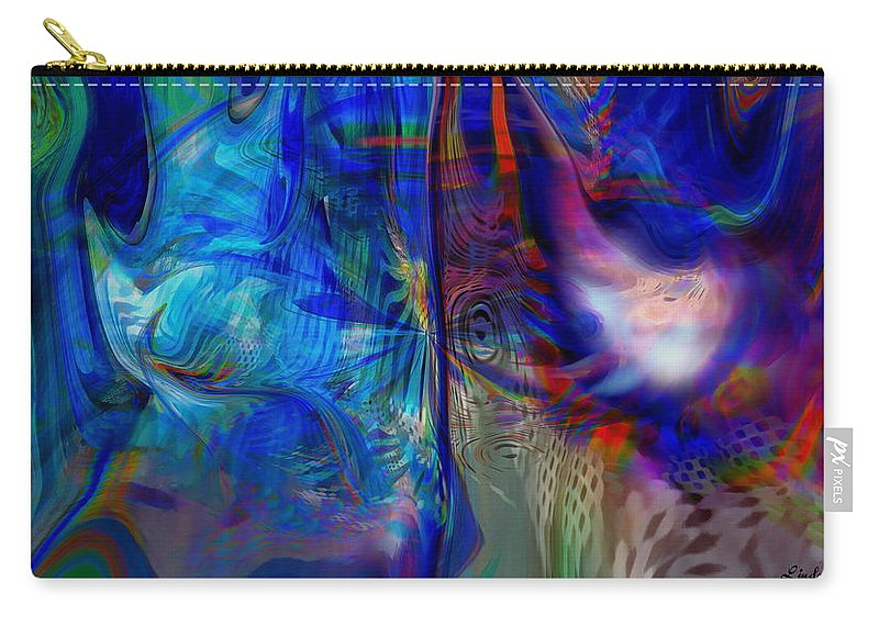 Abstract Carry-all Pouch featuring the digital art Limelight by Linda Sannuti