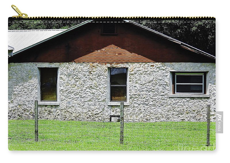 Chert Carry-all Pouch featuring the photograph Limestone Family Home by D Hackett