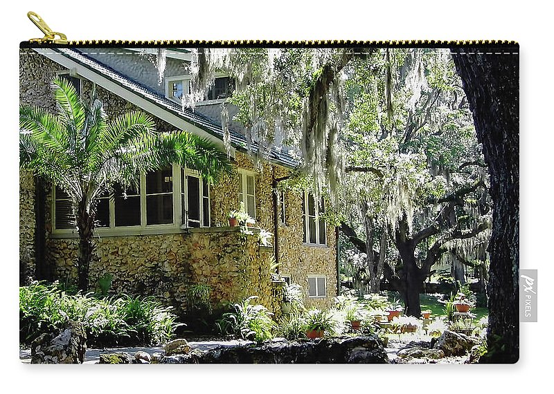 Chert Carry-all Pouch featuring the photograph Limestone Home In The Trees by D Hackett