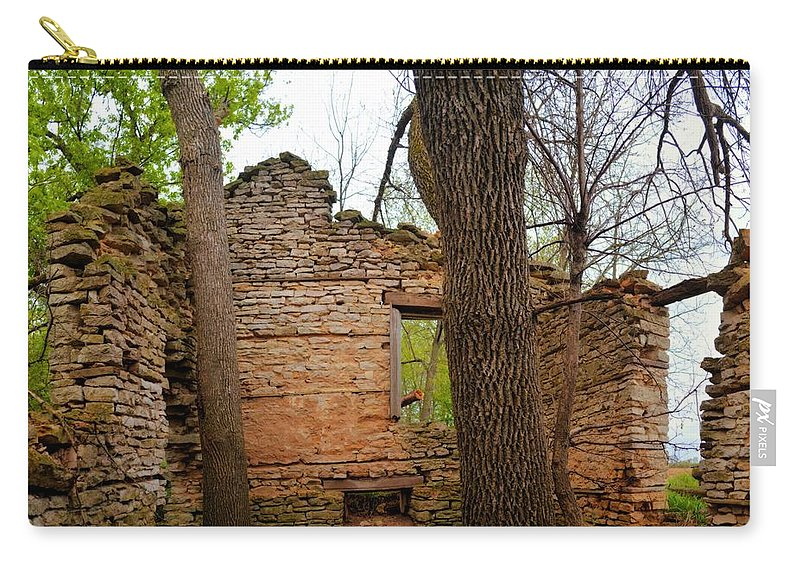 Limestone Carry-all Pouch featuring the photograph Limestone Relic by Bonfire Photography