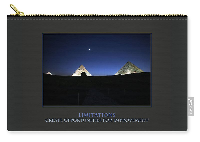 Motivational Carry-all Pouch featuring the photograph Limitations Create Opportunities For Improvement by Donna Corless