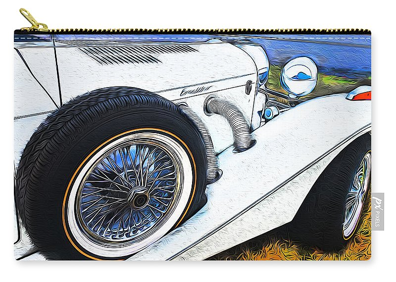 Limousine Carry-all Pouch featuring the photograph Limo Ride by Karen Lambert