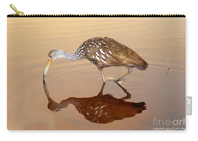 Limpkin Carry-all Pouch featuring the photograph Limpkin In The Mirror by David Lee Thompson