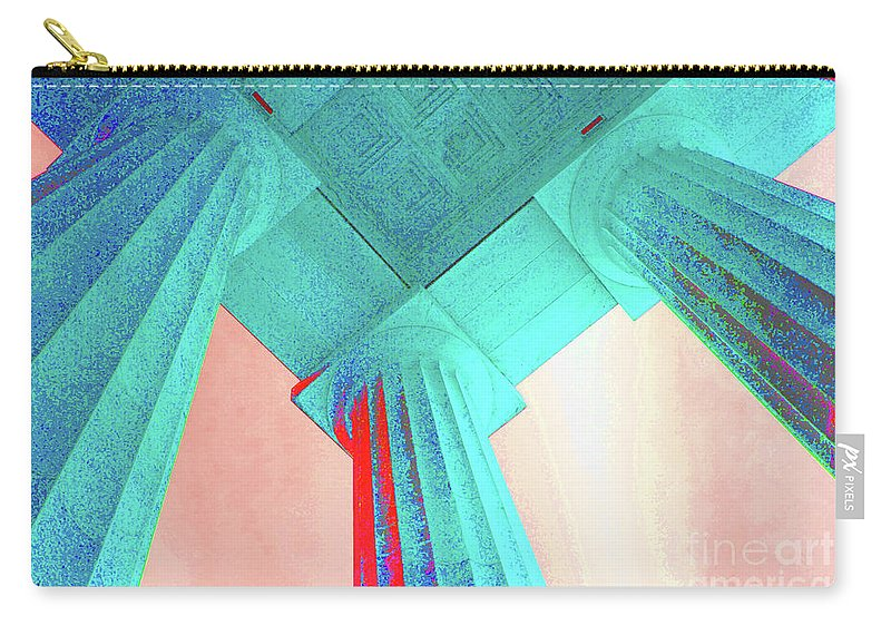 Lincoln Carry-all Pouch featuring the photograph Lincoln Column Blue by Jost Houk
