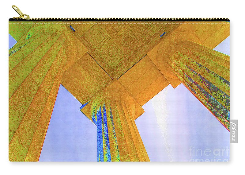 Lincoln Carry-all Pouch featuring the photograph Lincoln Column Yellow by Jost Houk