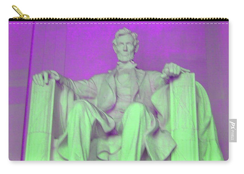 Lincoln Carry-all Pouch featuring the photograph Lincoln In Purple by Jost Houk
