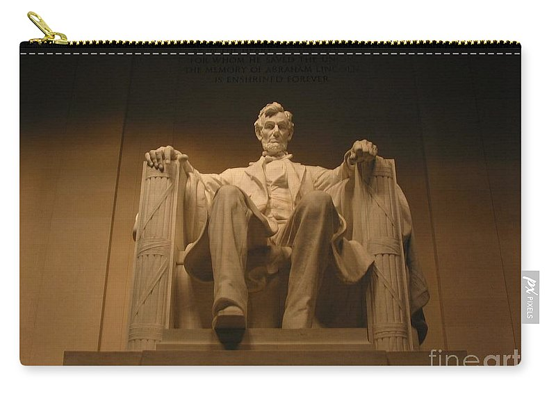Abraham Lincoln Carry-all Pouch featuring the photograph Lincoln Memorial by Brian McDunn