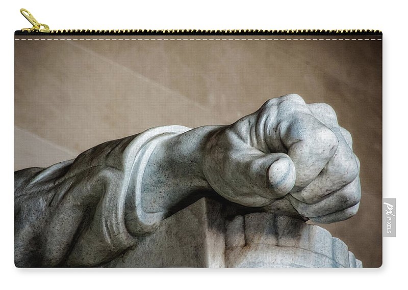 Hand Carry-all Pouch featuring the photograph Lincoln's Left Hand by Christopher Holmes