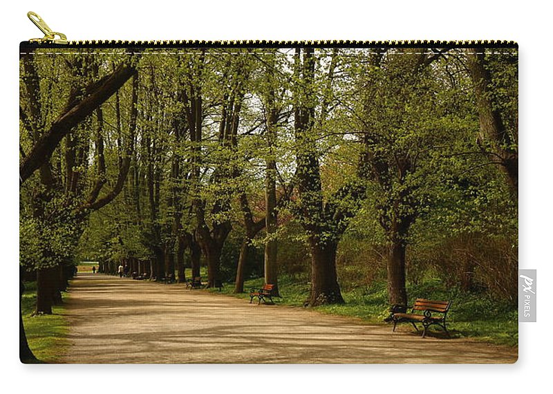 Linden Tree Carry-all Pouch featuring the photograph Linden Tree Alley by Christiane Schulze Art And Photography