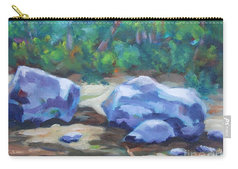 Expressionist Landscape Carry-all Pouch featuring the painting Lindenlure by Jan Bennicoff