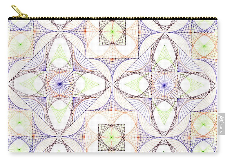 Geometry Carry-all Pouch featuring the drawing Line Dance by Bev Donohoe