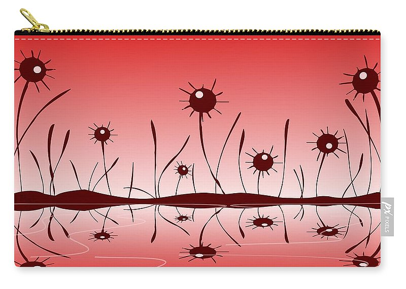 Reflection Carry-all Pouch featuring the digital art Line Of Defense by Anastasiya Malakhova