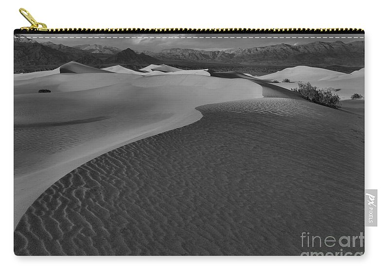 Black And White Carry-all Pouch featuring the photograph Line To Infinity by Adam Jewell