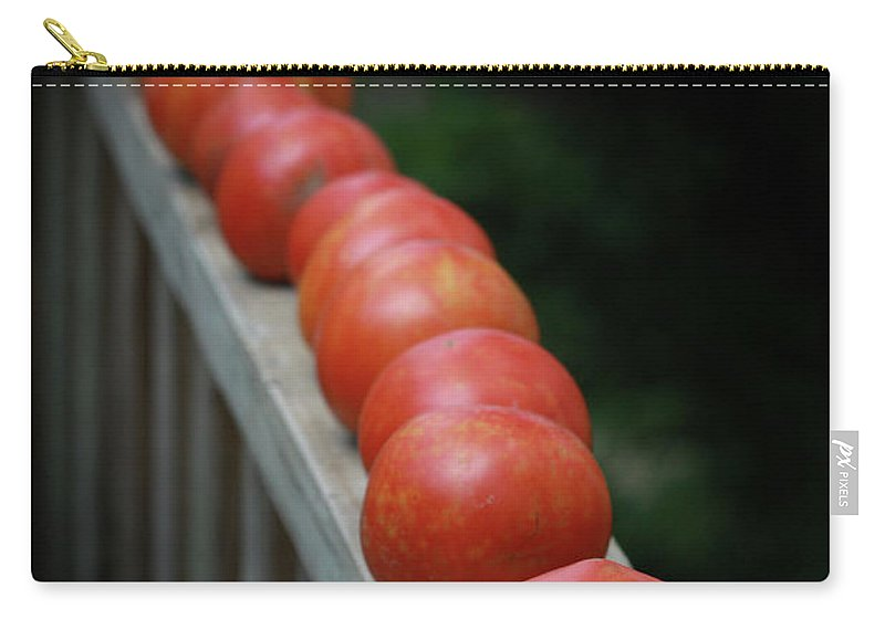 Gardens Carry-all Pouch featuring the photograph Line'em Up by Kim Henderson