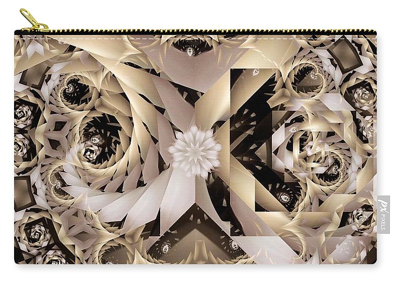 Abstract Carry-all Pouch featuring the digital art Linen and Silk by Ron Bissett